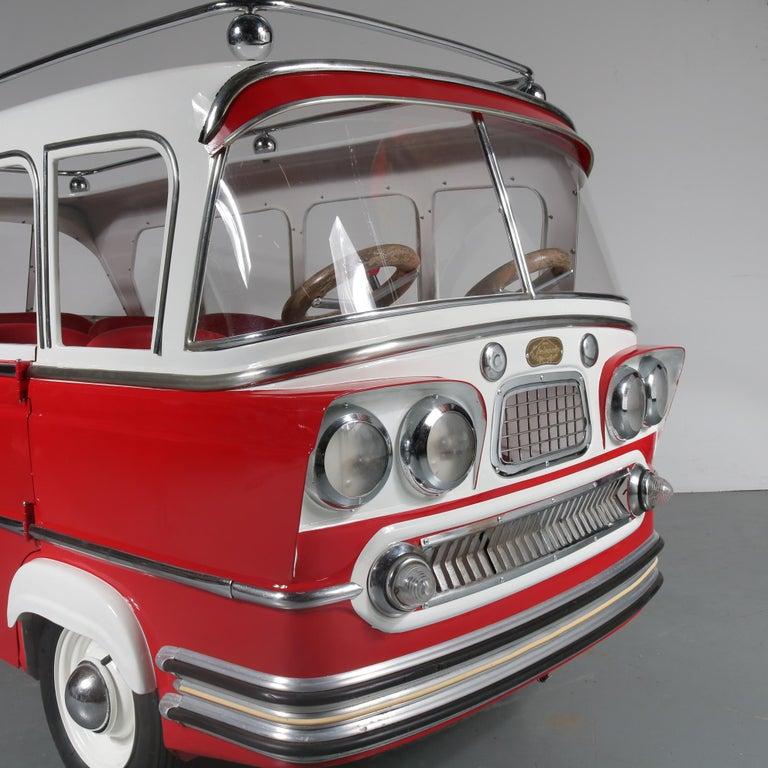 Belgian Rare l'Autopede Carousel Bus by Karel Baeyens, Belgium, 1955 For Sale
