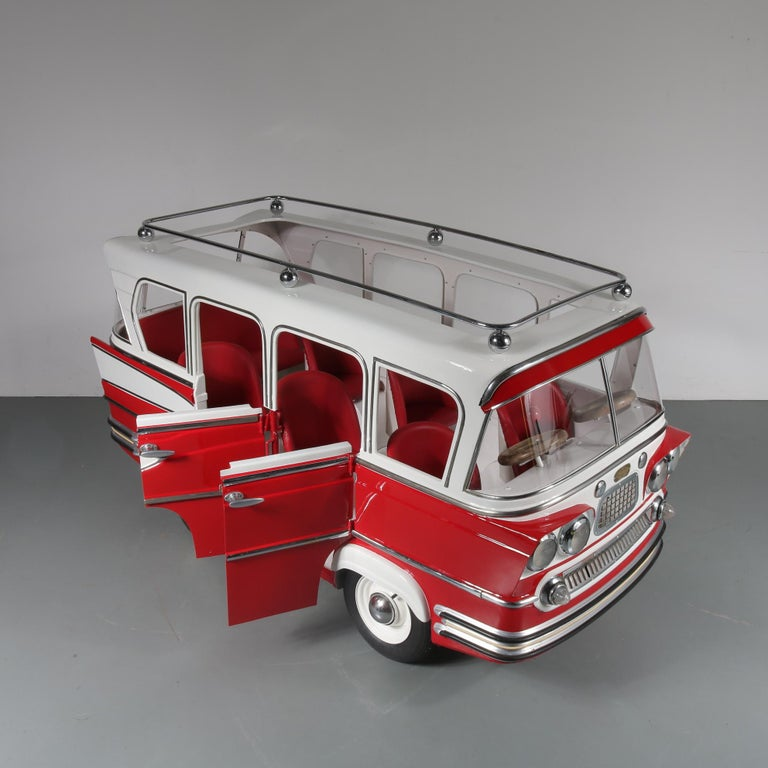 20th Century Rare l'Autopede Carousel Bus by Karel Baeyens, Belgium, 1955 For Sale