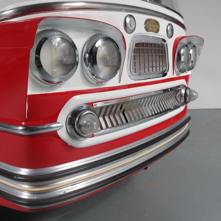 Metal Rare l'Autopede Carousel Bus by Karel Baeyens, Belgium, 1955 For Sale