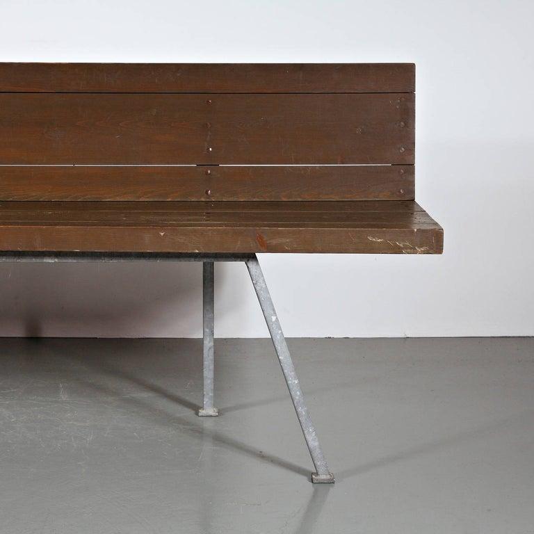 Mid-Century Modern Rare Dom Hans van der Laan Bench, 1967 For Sale