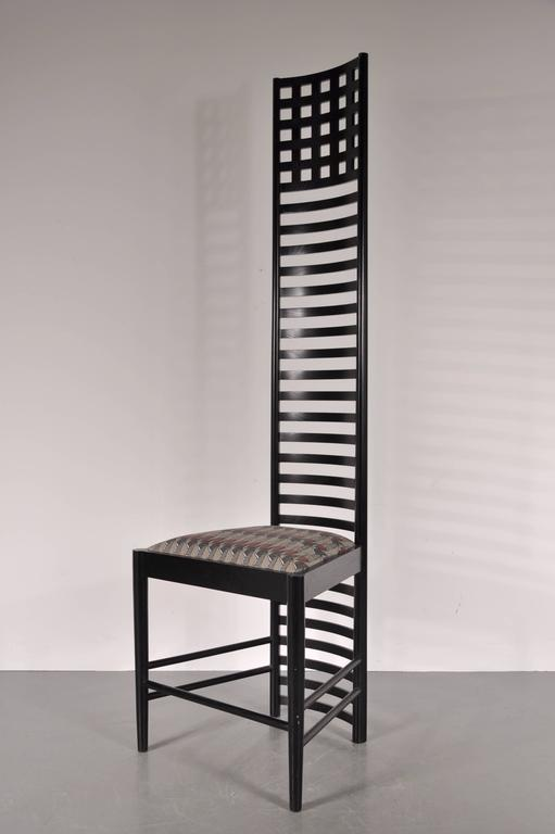 Superieur Truly Unique Extra Large Hill House Ladderback Chair By Charles Rennie  Mackintosh, Manufactured By Cassina