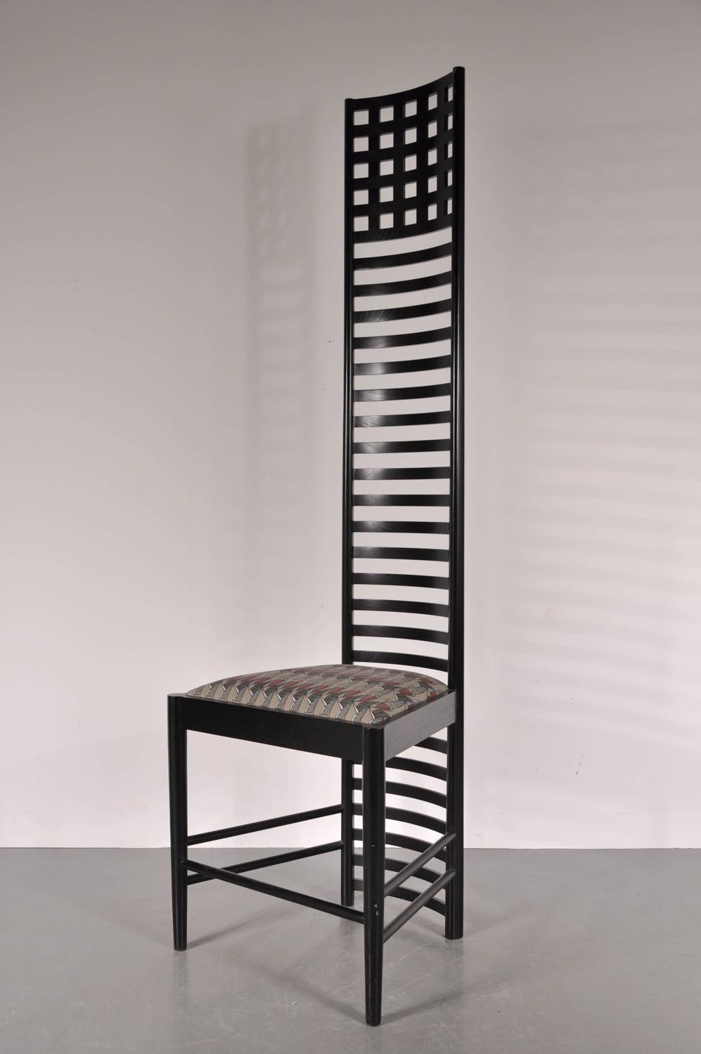 Xl edition hill house ladderback chair by charles rennie for 1980s chair design