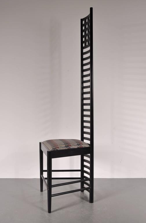 Mid Century Modern XL Edition Hill House Ladderback Chair By Charles Rennie  Mackintosh, Circa