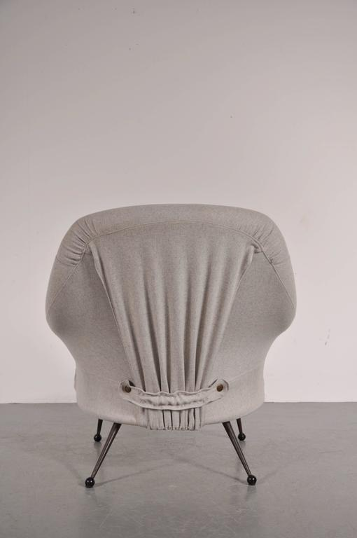 Brass Martingala Chair by Marco Zanuso for Arflex, Italy, circa 1950 For Sale