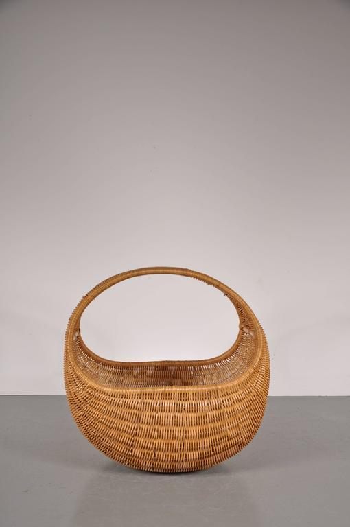 Wicker Baby Basket By Dirk Van Sliedrecht For Roh 233