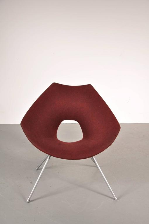 Mid-Century Modern Easy Chair by Augusto Bozzi for Saporiti Italy, circa 1950 For Sale