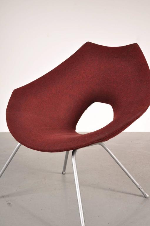 Fabric Easy Chair by Augusto Bozzi for Saporiti Italy, circa 1950 For Sale