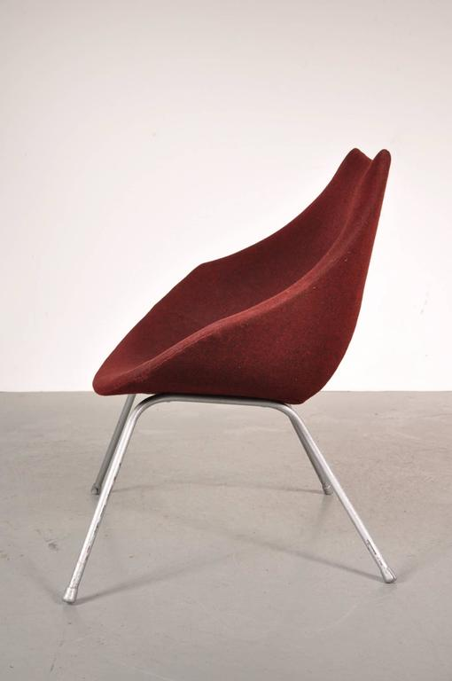 Mid-20th Century Easy Chair by Augusto Bozzi for Saporiti Italy, circa 1950 For Sale