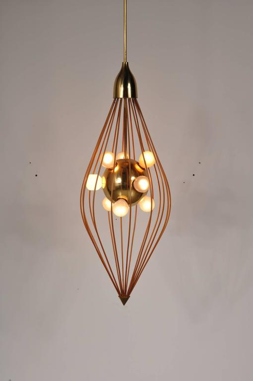 Mid-20th Century Ceiling Lamp in the Style of Angelo Lelli, Arredoluce, circa 1950 For Sale