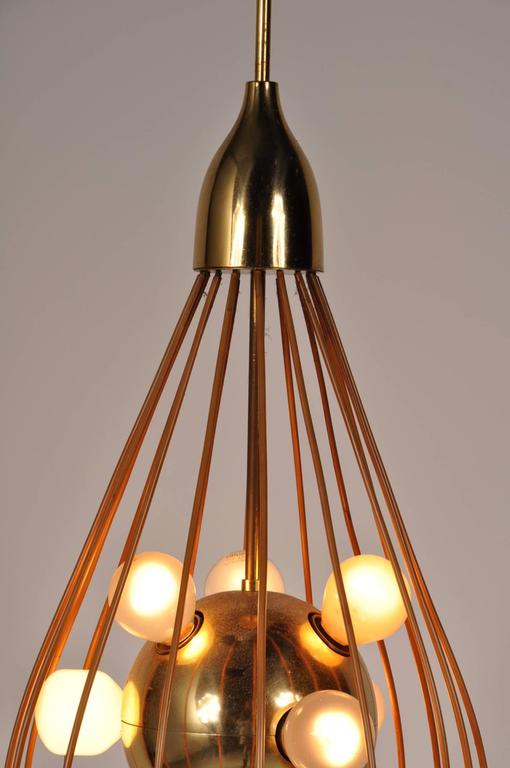 Mid-Century Modern Ceiling Lamp in the Style of Angelo Lelli, Arredoluce, circa 1950 For Sale