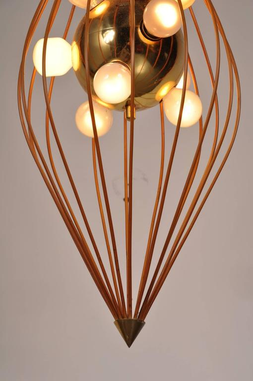 Italian Ceiling Lamp in the Style of Angelo Lelli, Arredoluce, circa 1950 For Sale