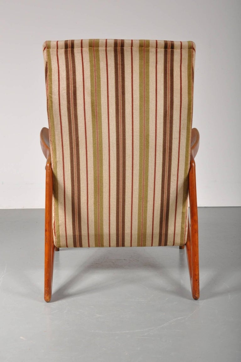 Belgian Lounge Chair Attributed to Alfred Hendrickx for Belform, Belgium, 1950s For Sale