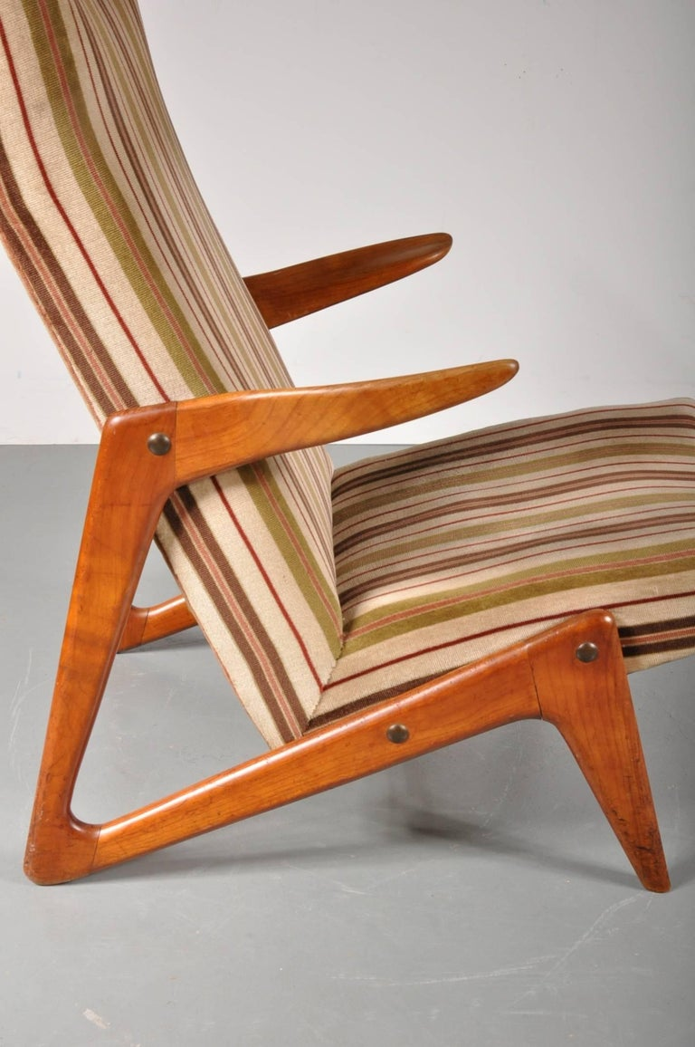 Mid-Century Modern Lounge Chair Attributed to Alfred Hendrickx for Belform, Belgium, 1950s For Sale