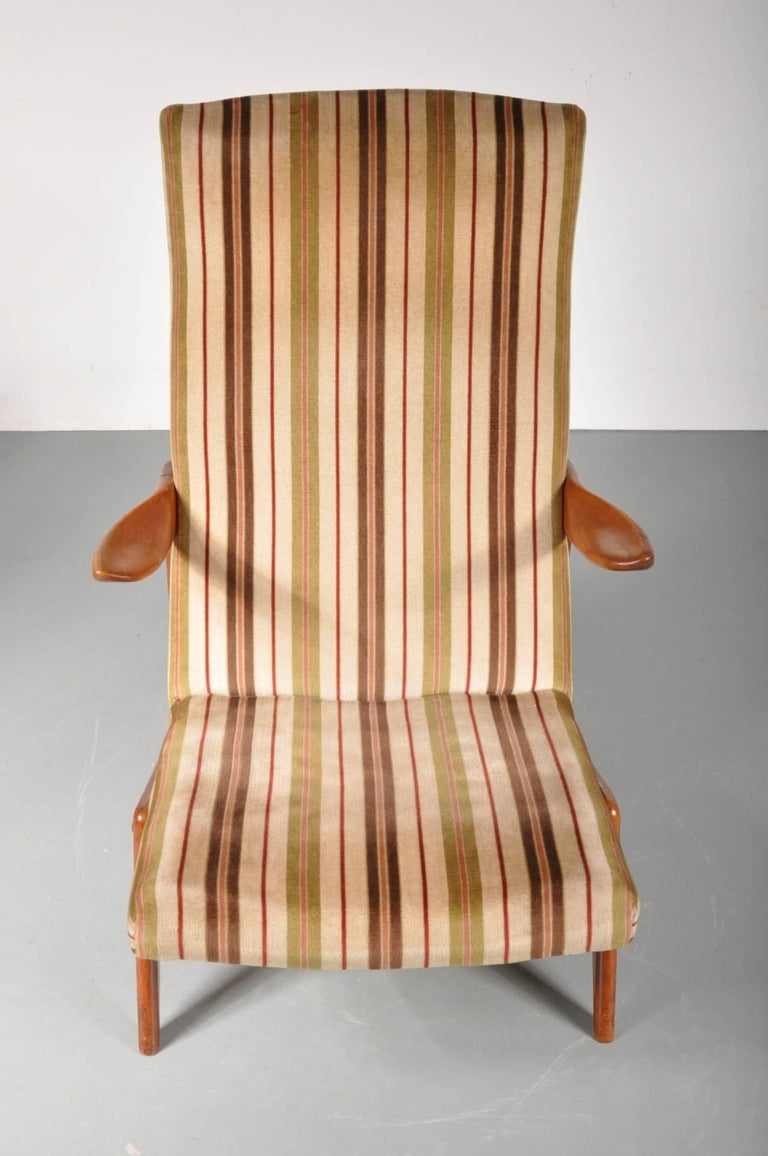 Lounge Chair Attributed to Alfred Hendrickx for Belform, Belgium, 1950s In Good Condition For Sale In Amsterdam, NL