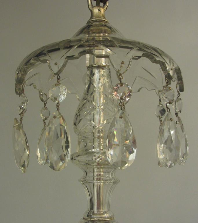 English Cut Glass Chandelier For Sale At 1stdibs