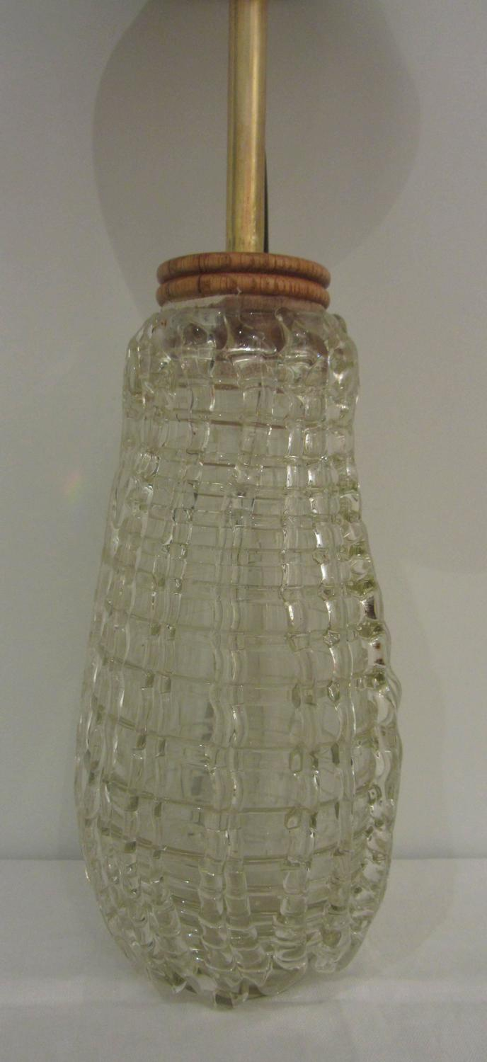 pair of unusual glass lamps for sale at 1stdibs