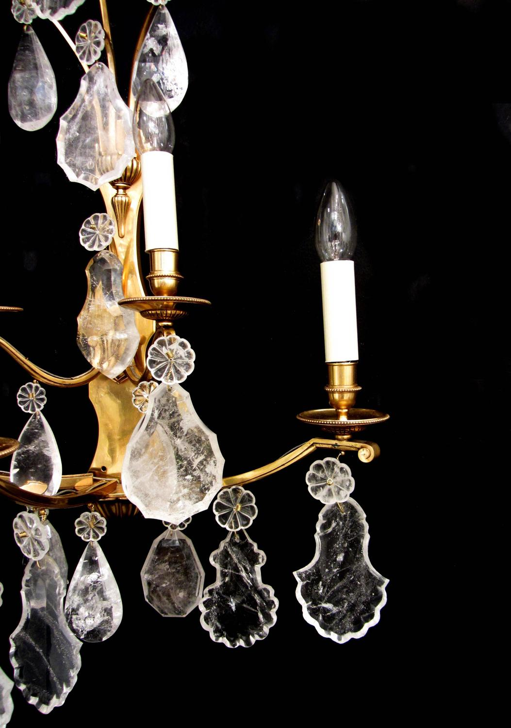 Pair of Rock Crystal Wall Lights For Sale at 1stdibs