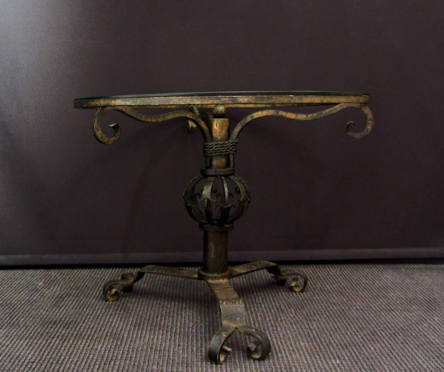 Unusual Wrought Iron Coffee Table For Sale At 1stdibs