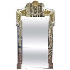 1940s Italian Venetian Mirror by Pier Luigi Colli