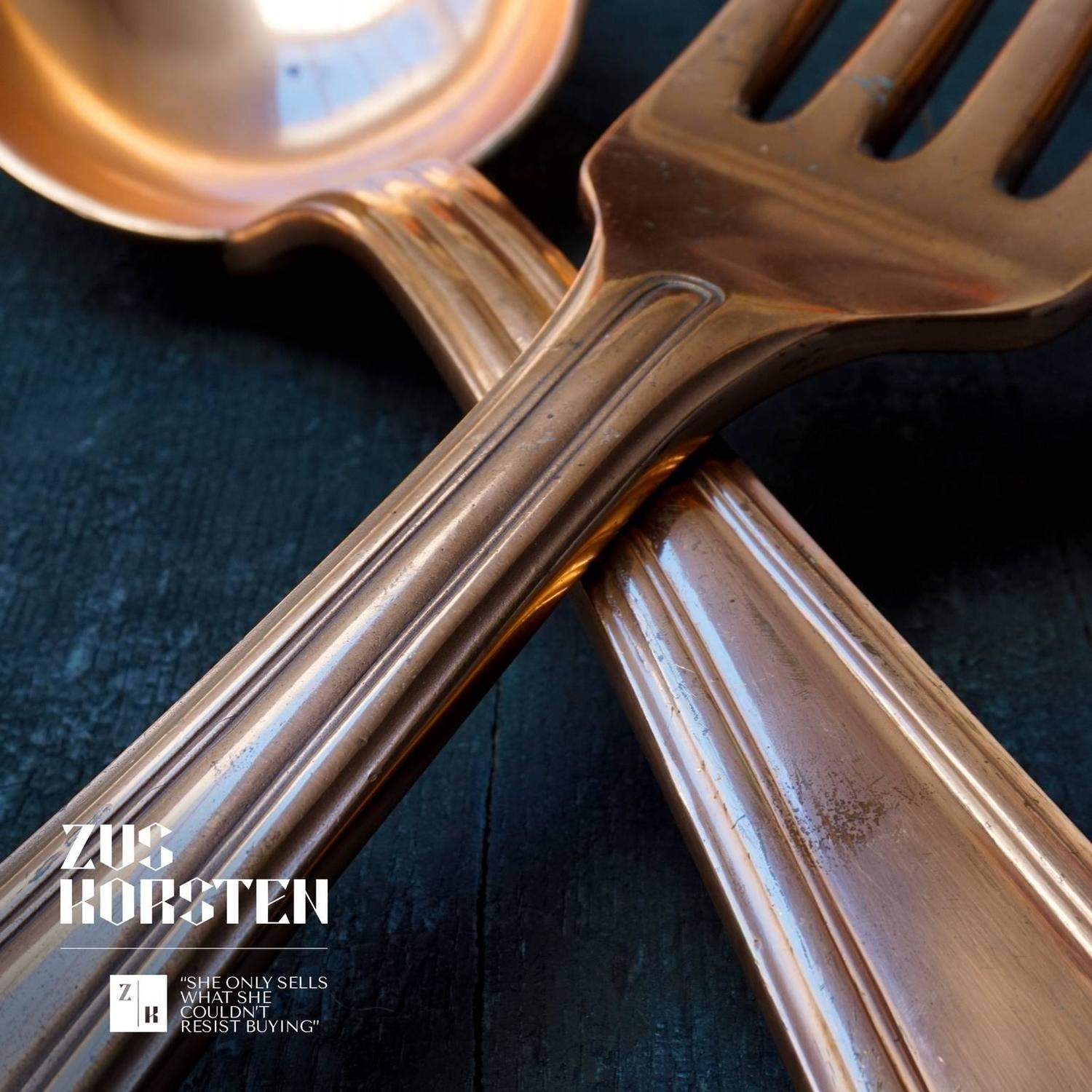 Giant Copper Cutlery For Sale at 1stdibs