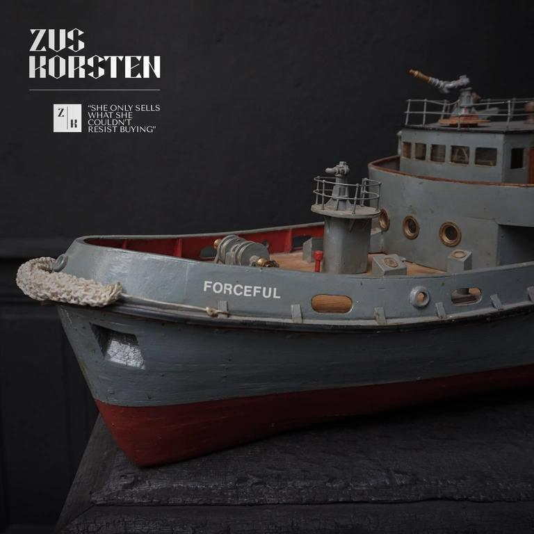 Iron Paddle Wheel Boat Model, 1960 For Sale