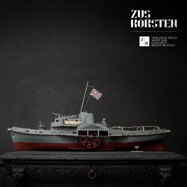 English Paddle Wheel Boat Model, 1960 For Sale