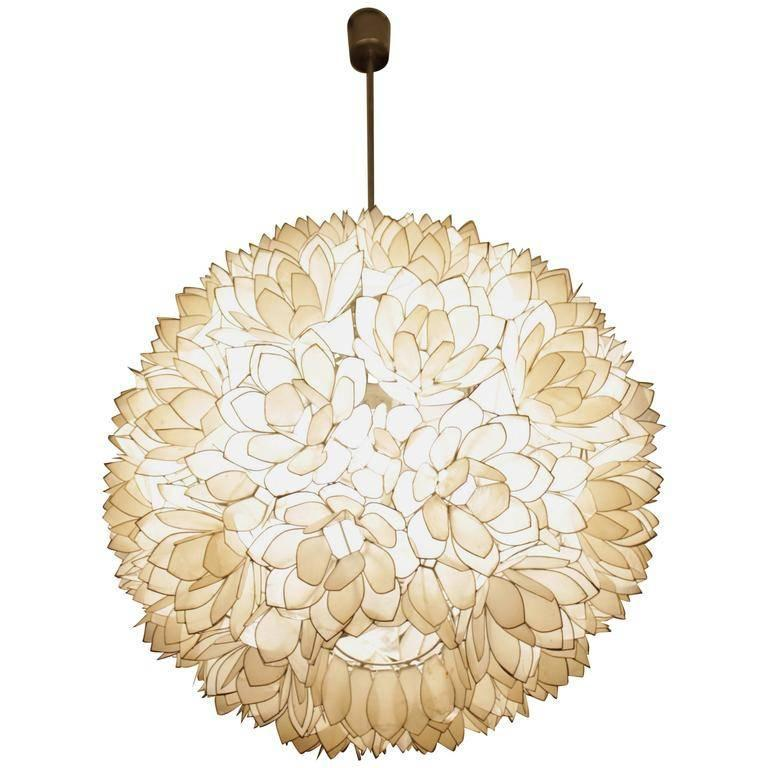 this capiz shell pendant lamp 1970s is no longer available. Black Bedroom Furniture Sets. Home Design Ideas