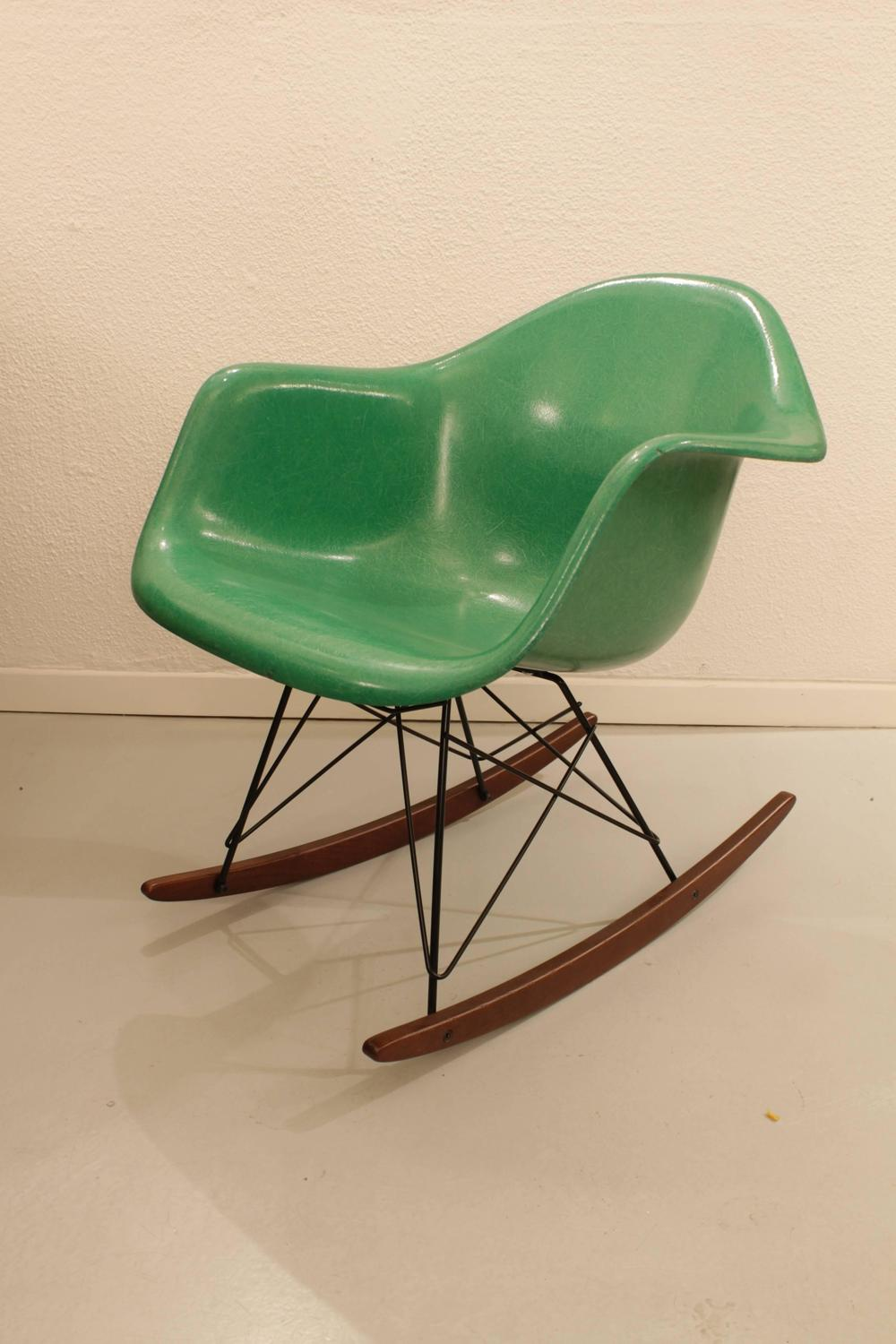 charles eames rocking chair apple green for sale at 1stdibs