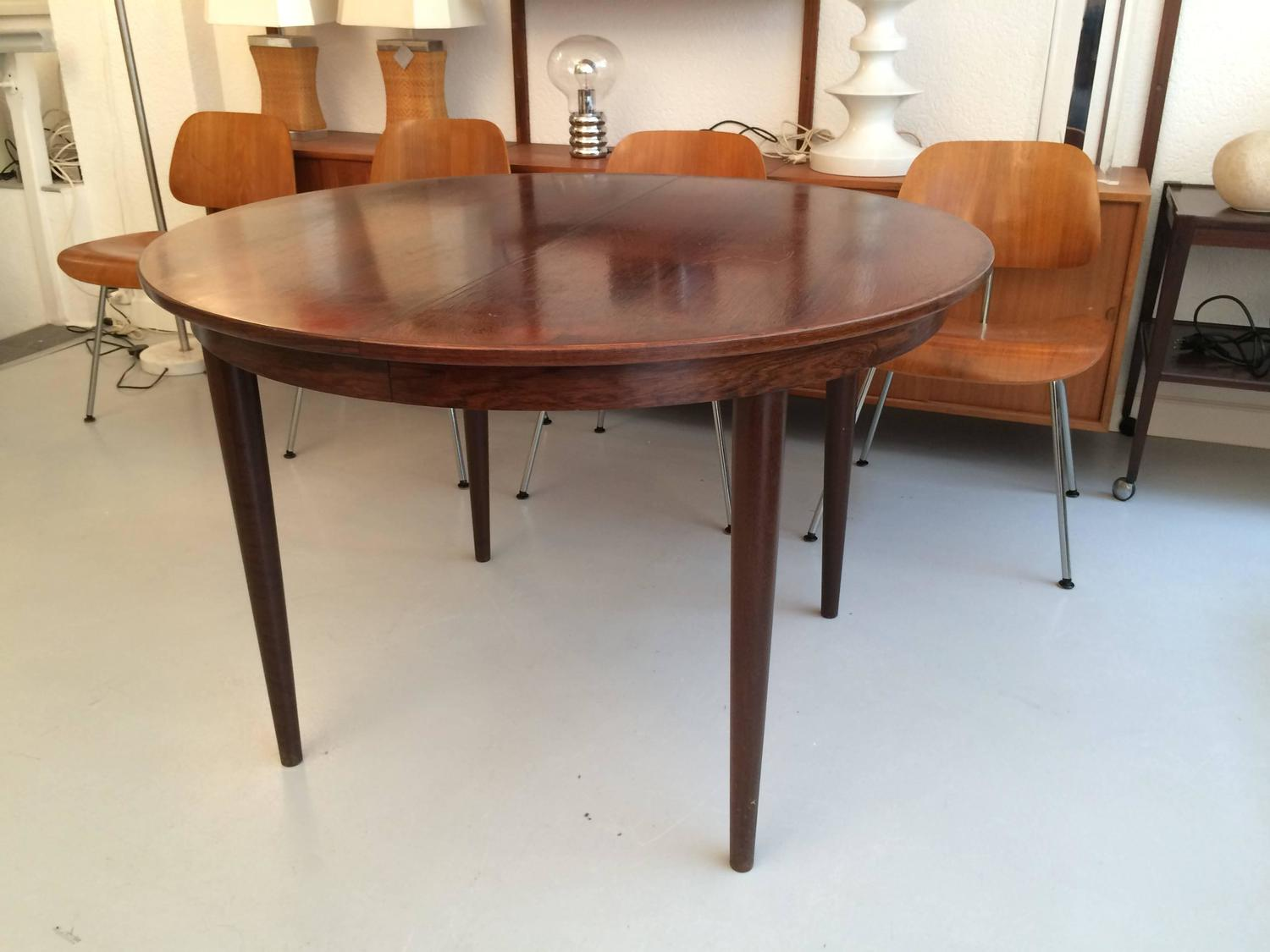danish rosewood dining table for sale at 1stdibs