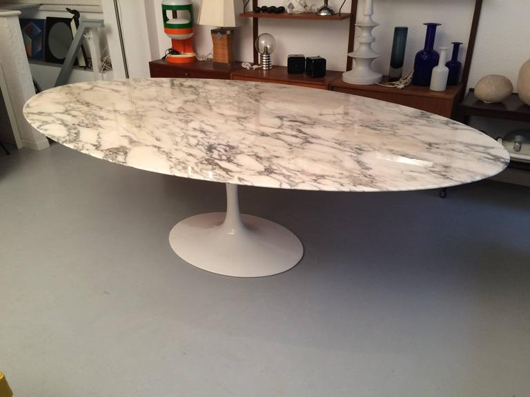 Eero Saarinen Marble Oval Dining Table 244cm By Knoll 50th Birthday Edition Perfect Condition
