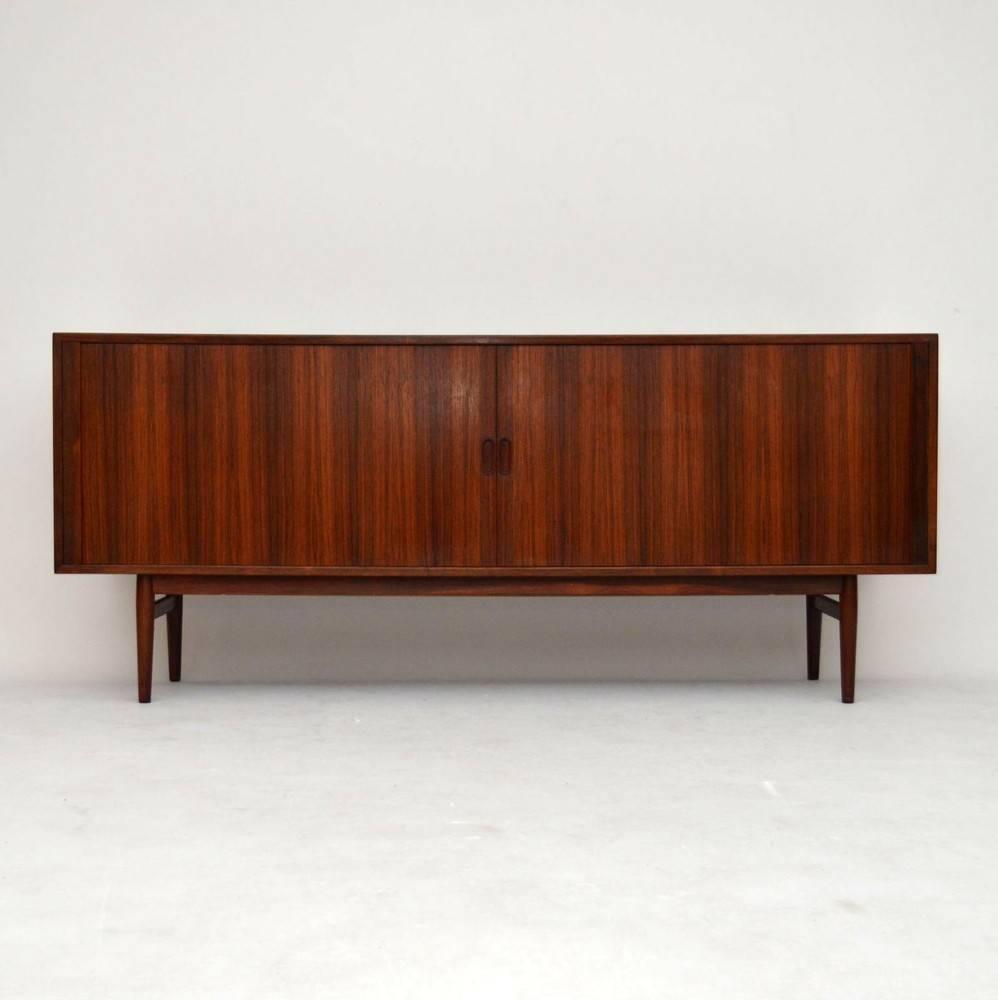 arne vodder rosewood tamboor doors sideboard for sale at 1stdibs. Black Bedroom Furniture Sets. Home Design Ideas