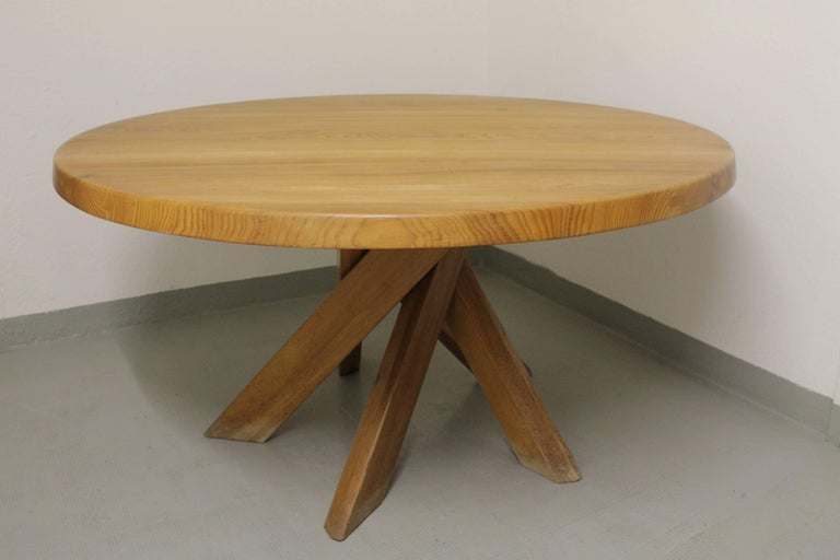 Late 20th Century Pierre Chapo T21 Dining Table For Sale
