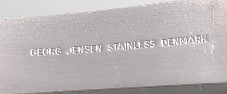 Scandinavian Modern Complete Service for 24 P., Henning Koppel. Strata Cutlery Stainless Steel For Sale