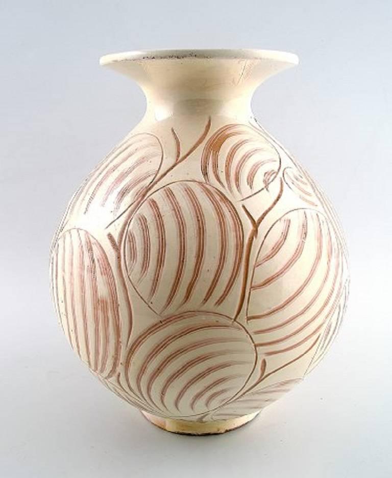 k hler denmark glazed stoneware vase 1940s for sale at 1stdibs. Black Bedroom Furniture Sets. Home Design Ideas