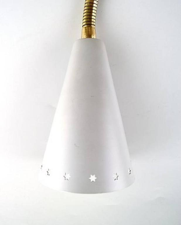 Six Danish Design Wall Lamps in Different Colors, 1950s For Sale at 1stdibs