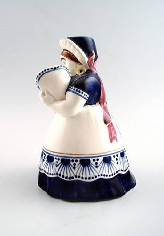 Arts and Crafts Rare Ame Aluminia/Royal Copenhagen Figurine, Dated 1908 For Sale