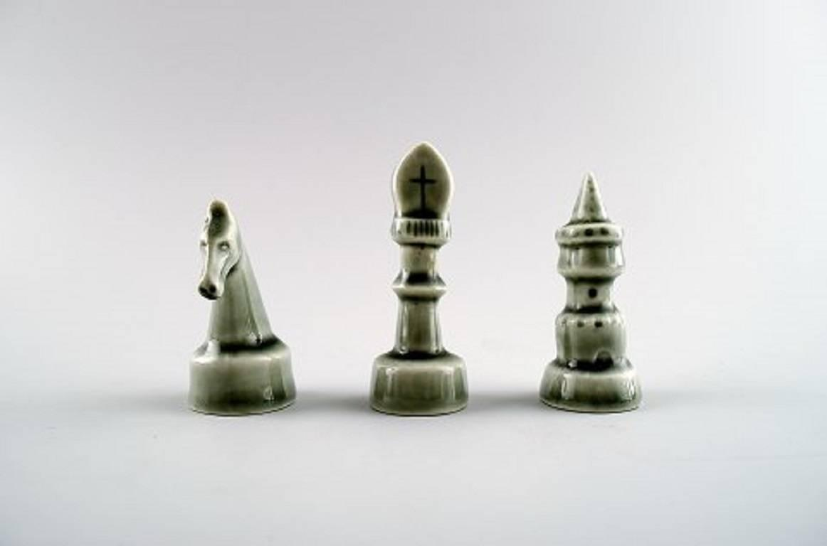 Sven wejsfelt for gustavsberg complete set of chess pieces in ceramics for sale at 1stdibs - Ceramic chess sets for sale ...