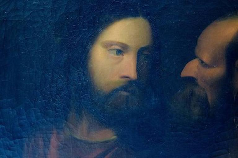 Unknown Artist, 19th Century Oil on Canvas, Biblical Motif after Titian 3