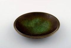 Just Andersen Bronze Bowl Dish, 1930s-1940s, Danish Design