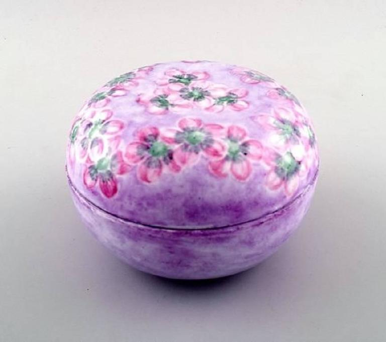 Rosenthal lidded jar / jewelry box, hand-painted.