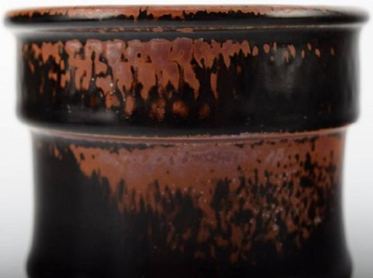 Stig Lindberg (1916-1982), Gustavsberg Studio, ceramic vase.  Measuring: 12 x 8 cm.   In perfect condition.