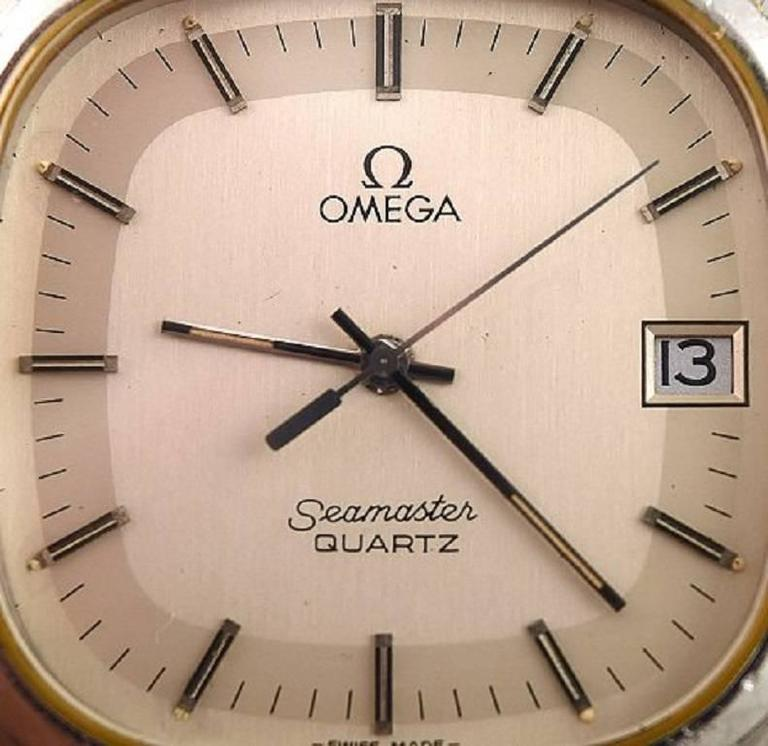 Omega Seamaster cal. 1332, vintage mens wristwatch, 1970s.