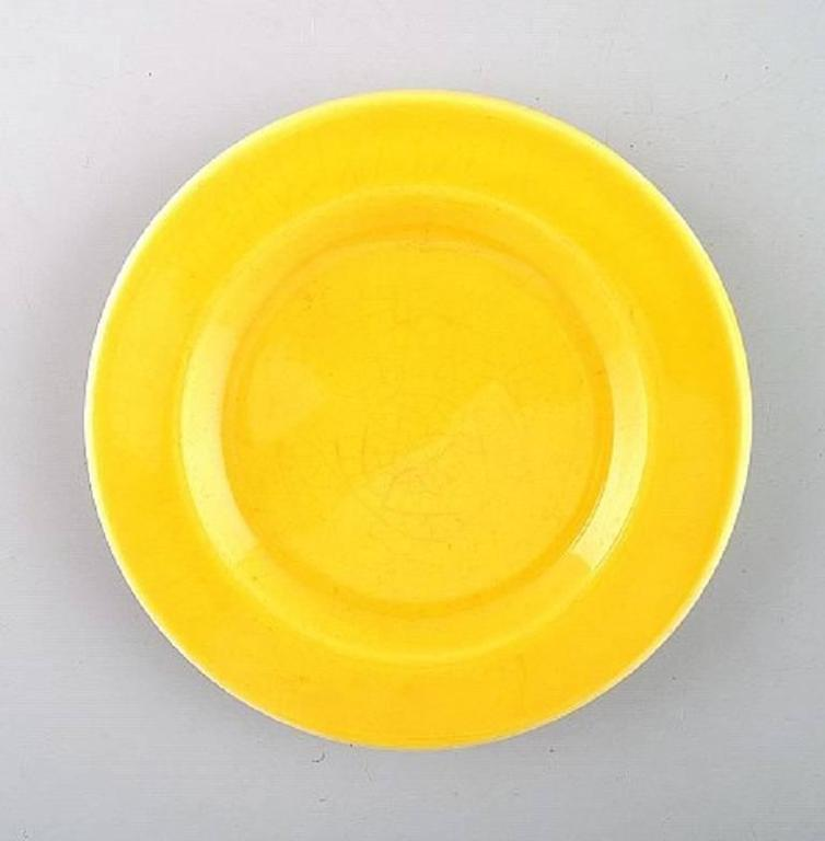 Five pieces. Butter pads Susanne yellow confetti royal Copenhagen / aluminia.