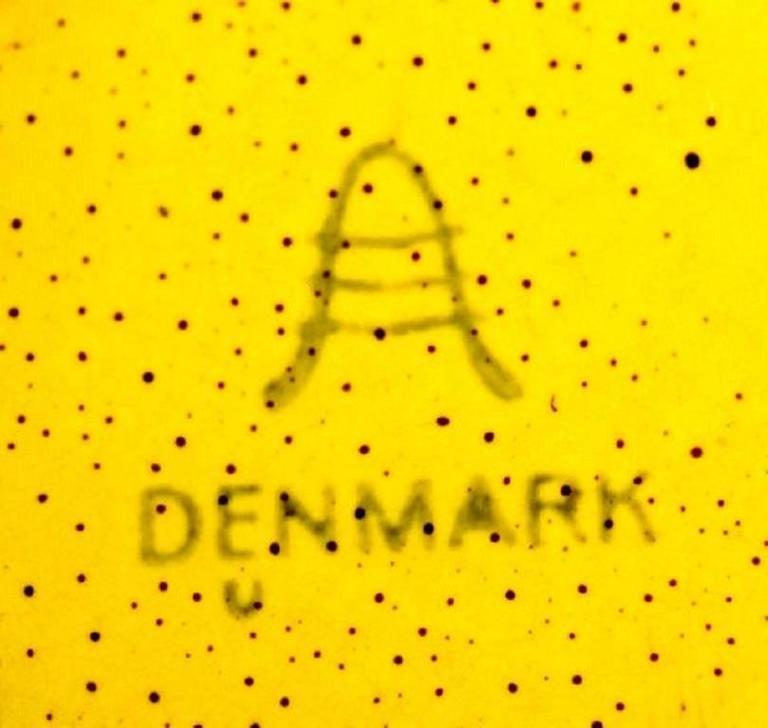 Four Bowls, Susanne Yellow Confetti Royal Copenhagen / Aluminia In Good Condition For Sale In Copenhagen, Denmark