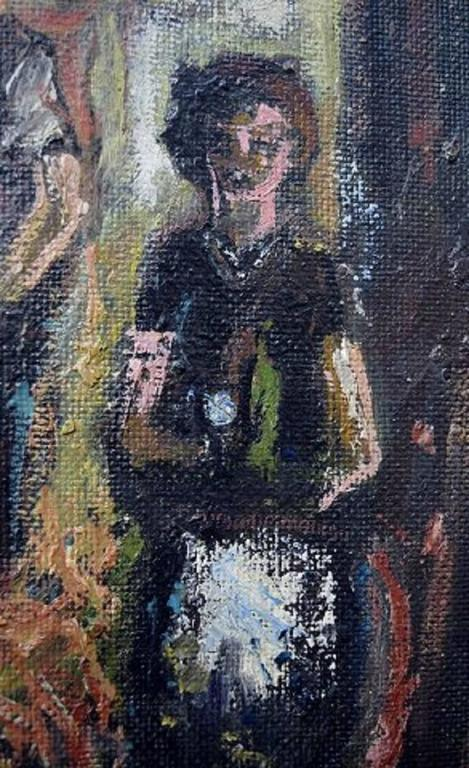 Unknown Painter, Mid-20th Century, Interior, Oil on Board For Sale 1
