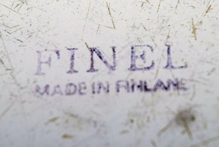 Kaj Franck, Bowl of Enameled Metal, Arabia / Finel, Finland, 1950s In Good Condition For Sale In Copenhagen, Denmark