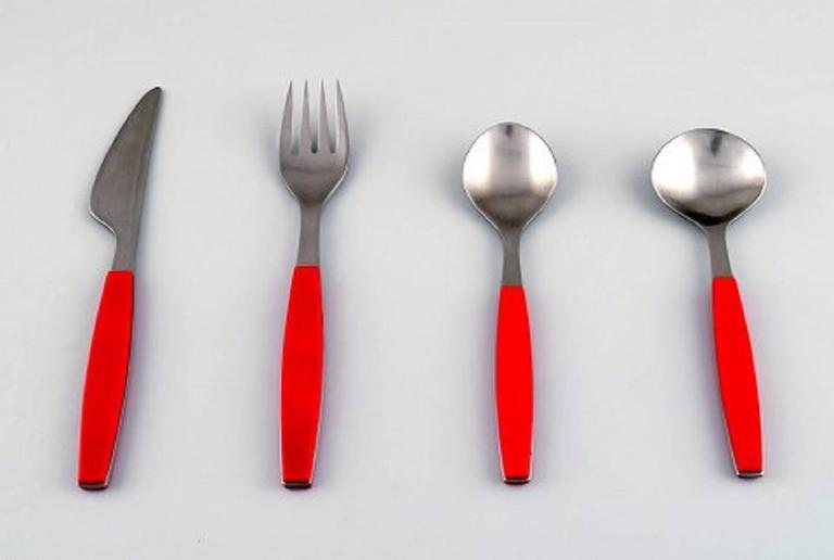 Danish Complete Service for Six People, Henning Koppel. Strata Cutlery For Sale