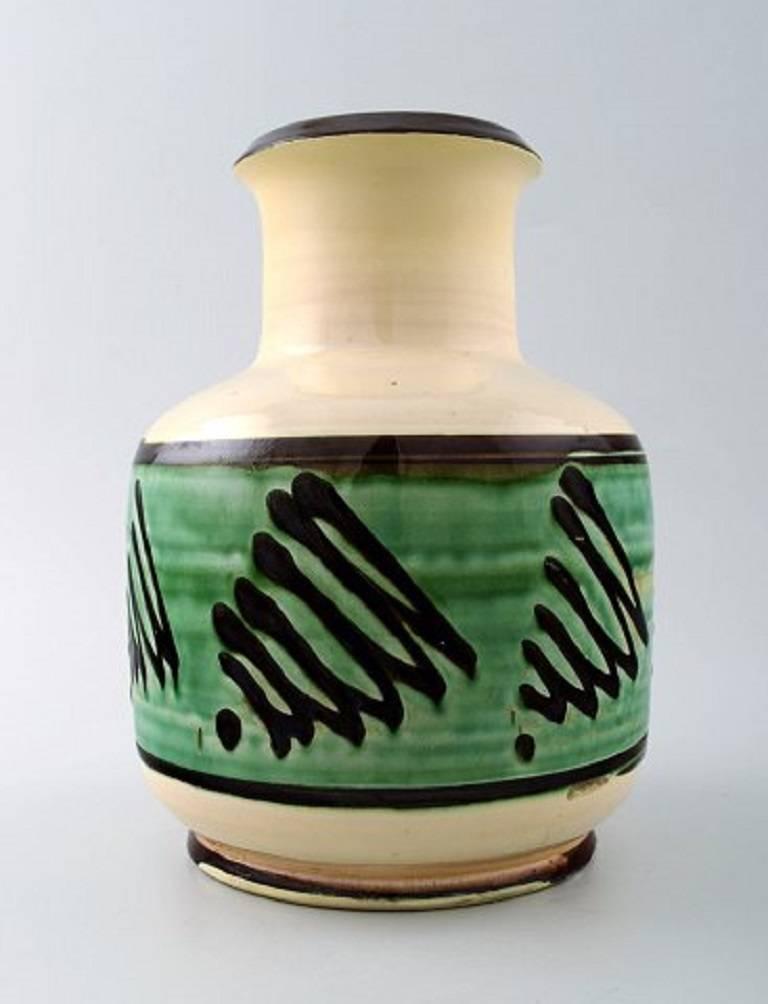 k hler denmark glazed stoneware vase 1930s for sale at 1stdibs. Black Bedroom Furniture Sets. Home Design Ideas