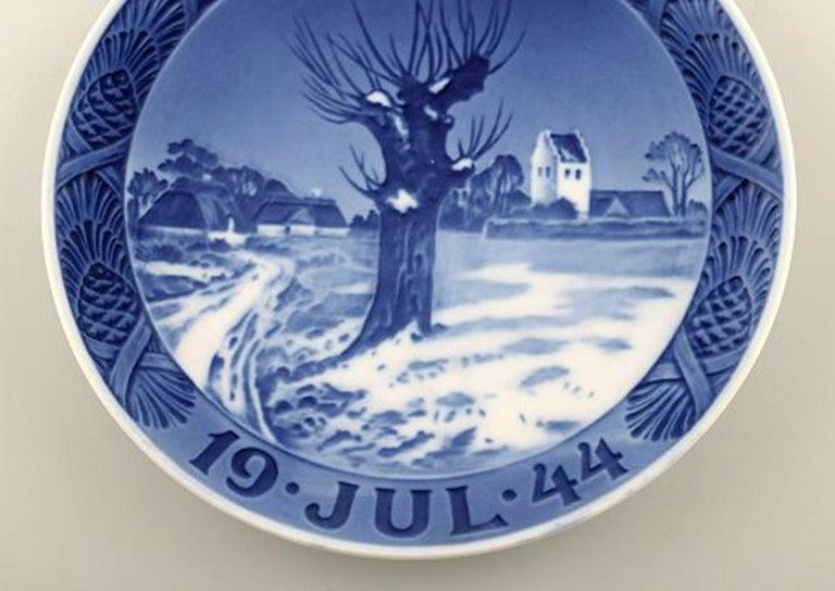 scandinavian modern royal copenhagen christmas plate from 1944 for sale - Royal Copenhagen Christmas Plates