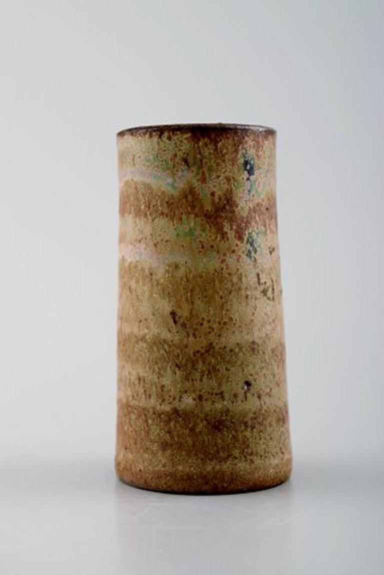 Swedish Wallakra Five Miniature Art Pottery Vases, Sweden, 1950s For Sale